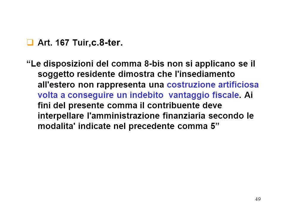 Art. 167 Tuir,c.8-ter.