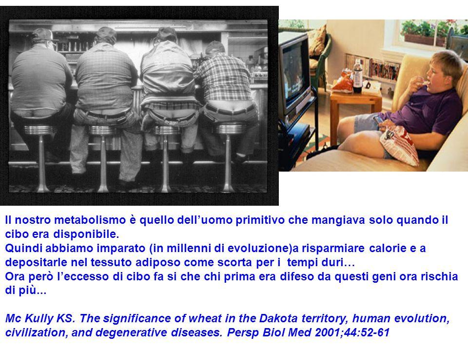 Il nostro metabolismo è quello dell'uomo primitivo che mangiava solo quando il cibo era disponibile.
