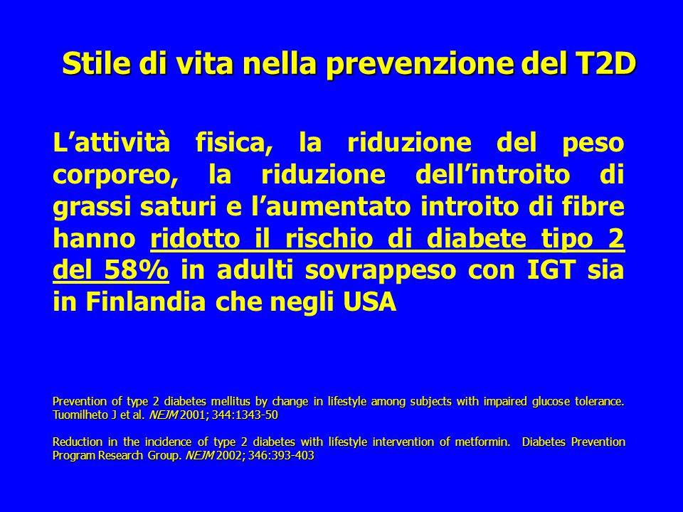 Stile di vita nella prevenzione del T2D