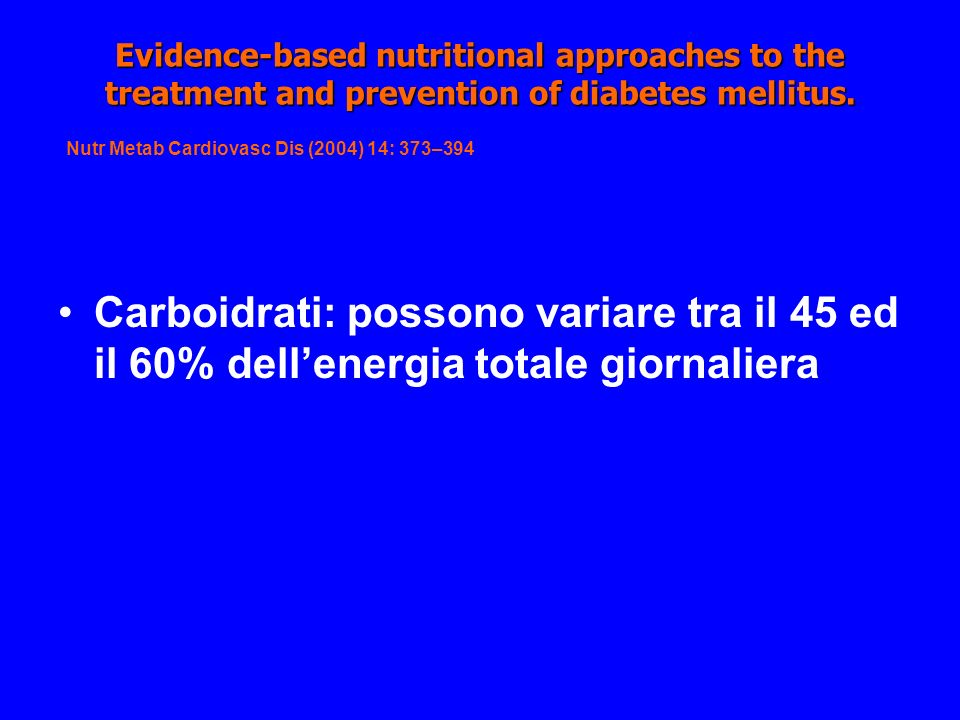 Evidence-based nutritional approaches to the treatment and prevention of diabetes mellitus.