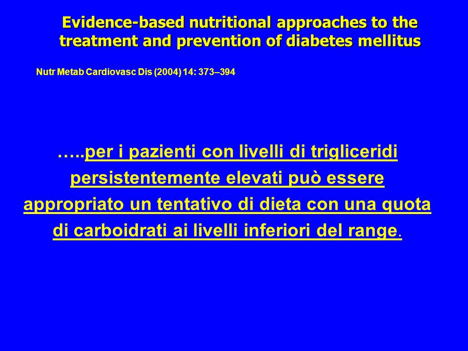 Evidence-based nutritional approaches to the