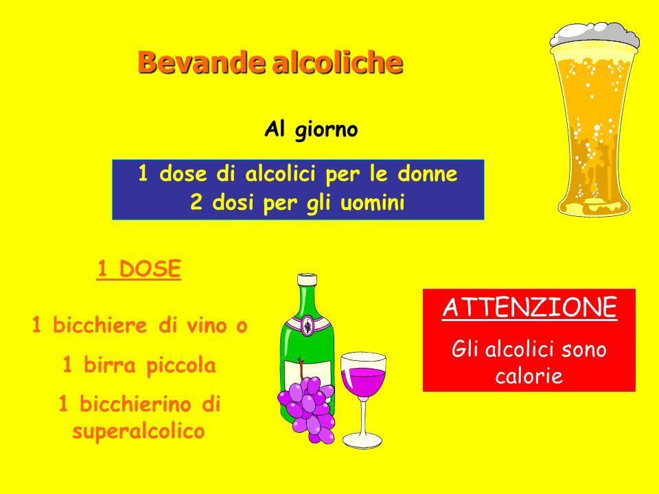 1 dose di alcolici per le donne 1 bicchierino di superalcolico
