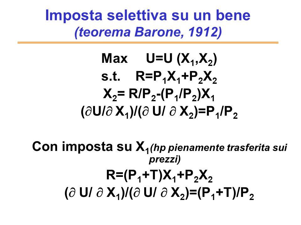 Imposta selettiva su un bene (teorema Barone, 1912)