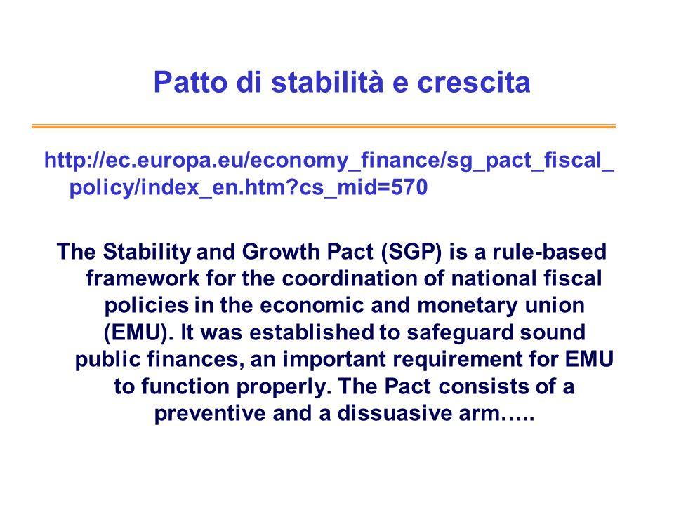 Patto di stabilità e crescita