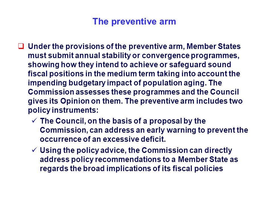 The preventive arm