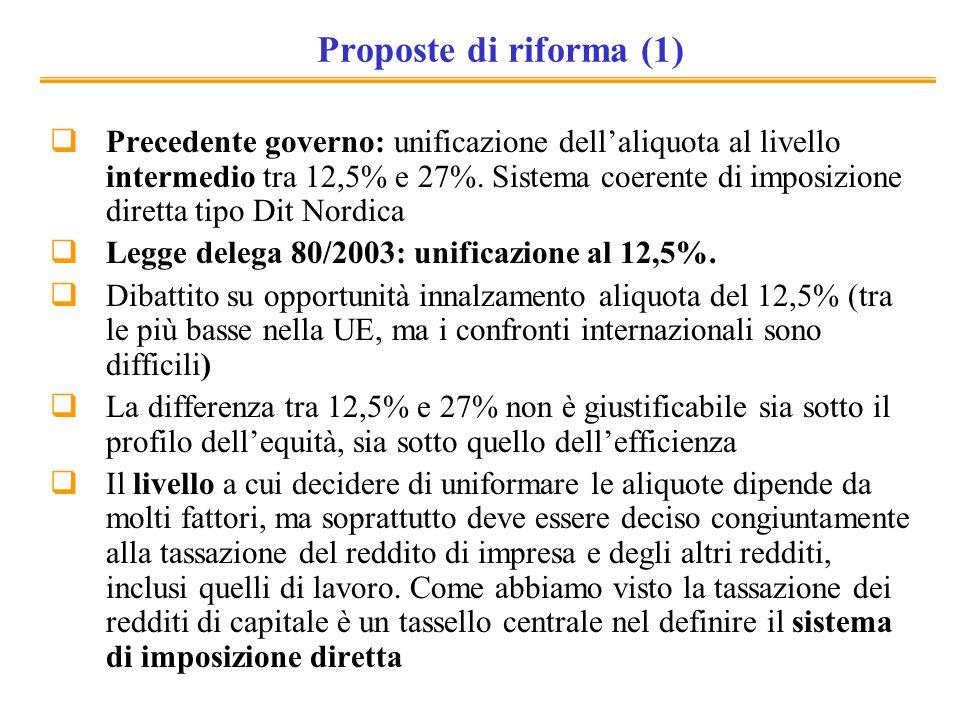Proposte di riforma (1)