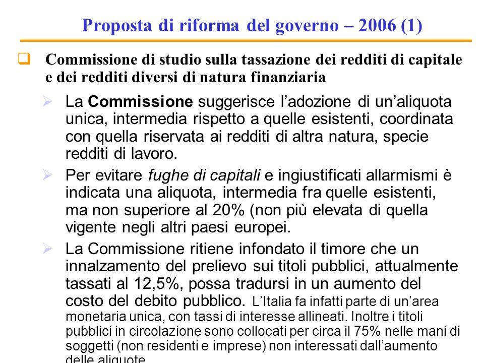Proposta di riforma del governo – 2006 (1)