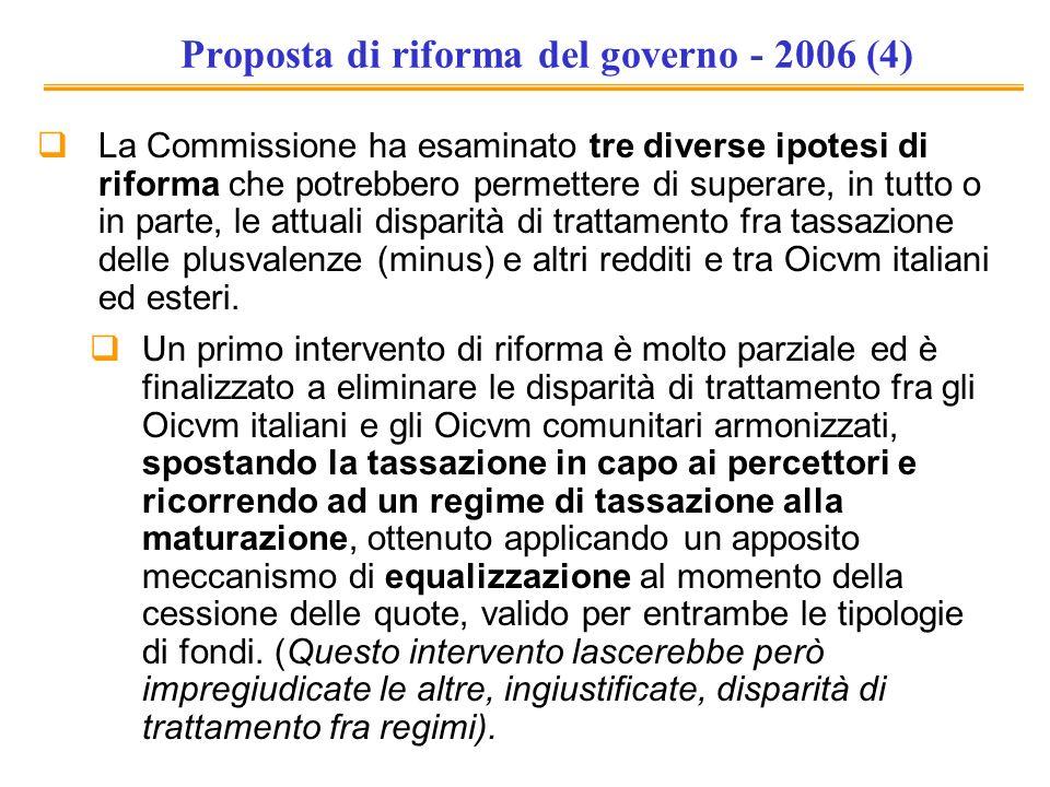 Proposta di riforma del governo - 2006 (4)