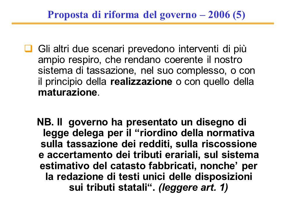 Proposta di riforma del governo – 2006 (5)