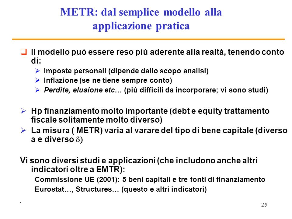 METR: dal semplice modello alla applicazione pratica