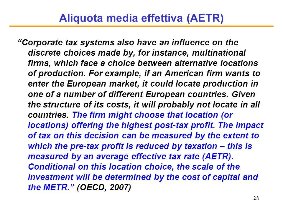 Aliquota media effettiva (AETR)