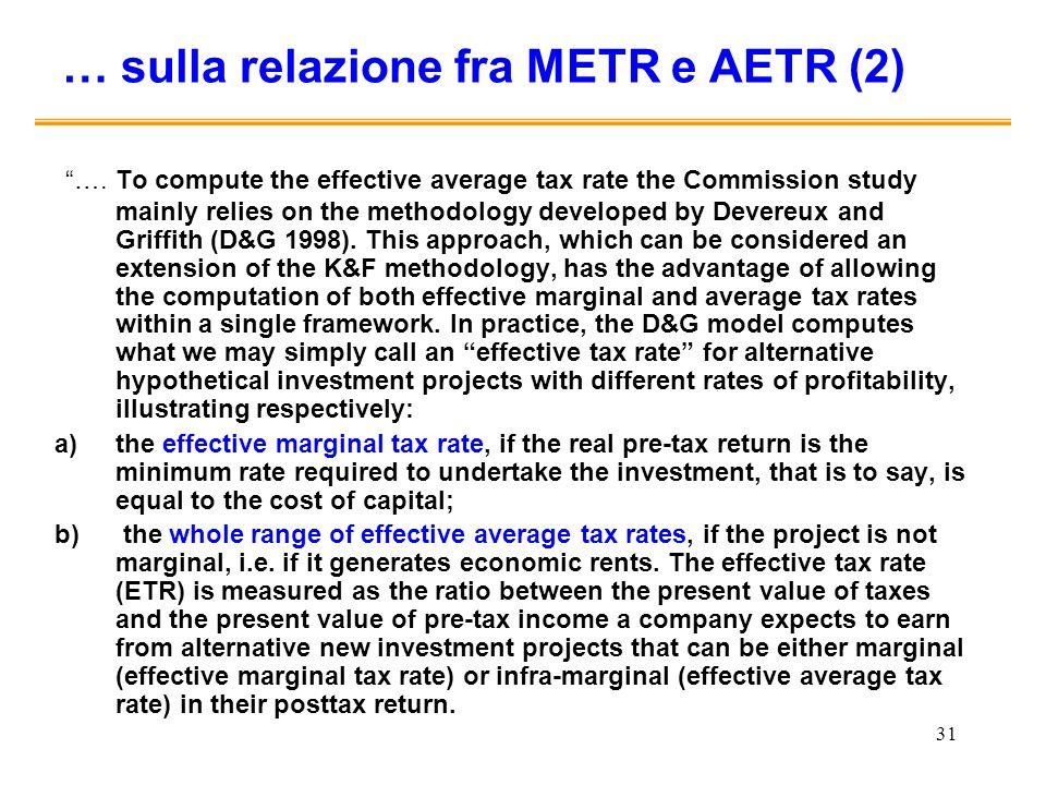 … sulla relazione fra METR e AETR (2)