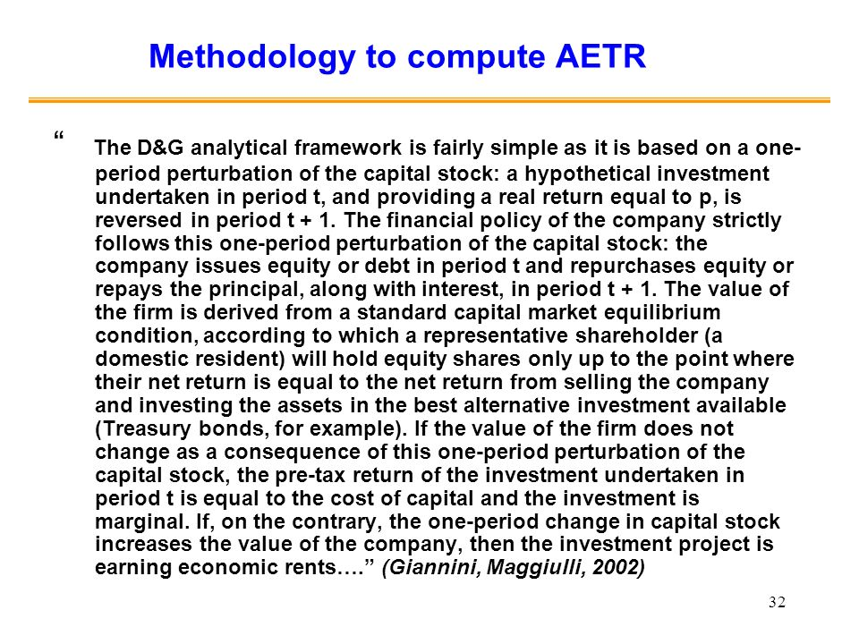 Methodology to compute AETR
