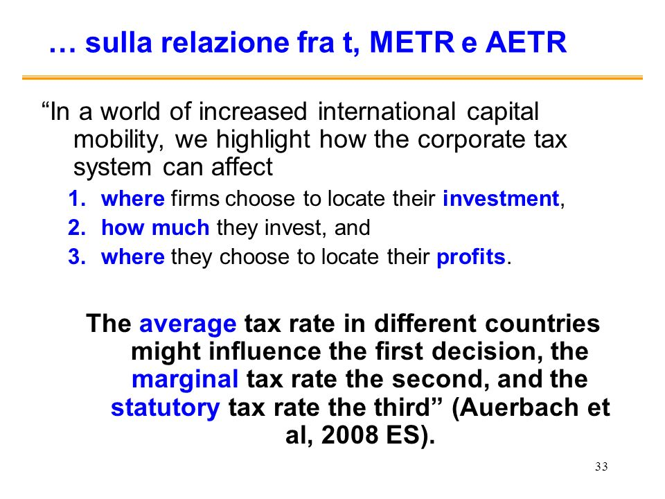 … sulla relazione fra t, METR e AETR