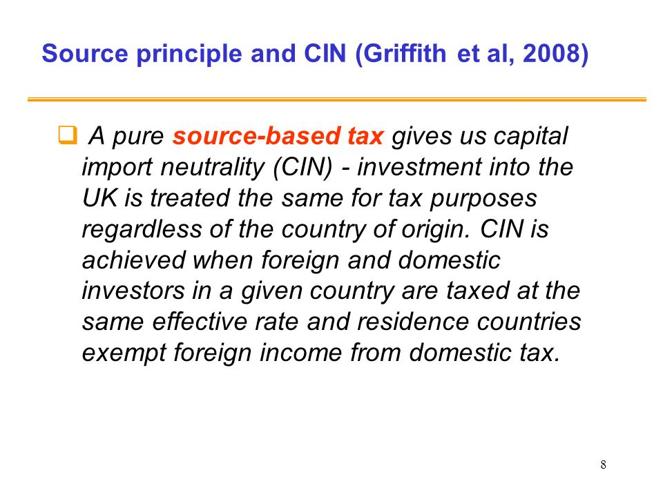 Source principle and CIN (Griffith et al, 2008)