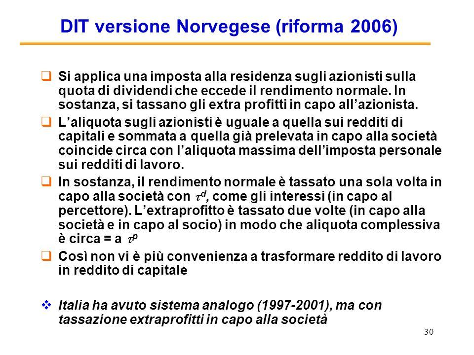 DIT versione Norvegese (riforma 2006)