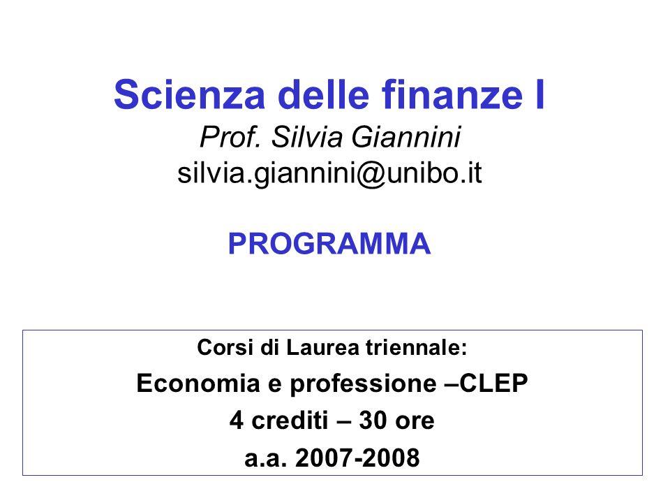 Corsi di Laurea triennale: Economia e professione –CLEP