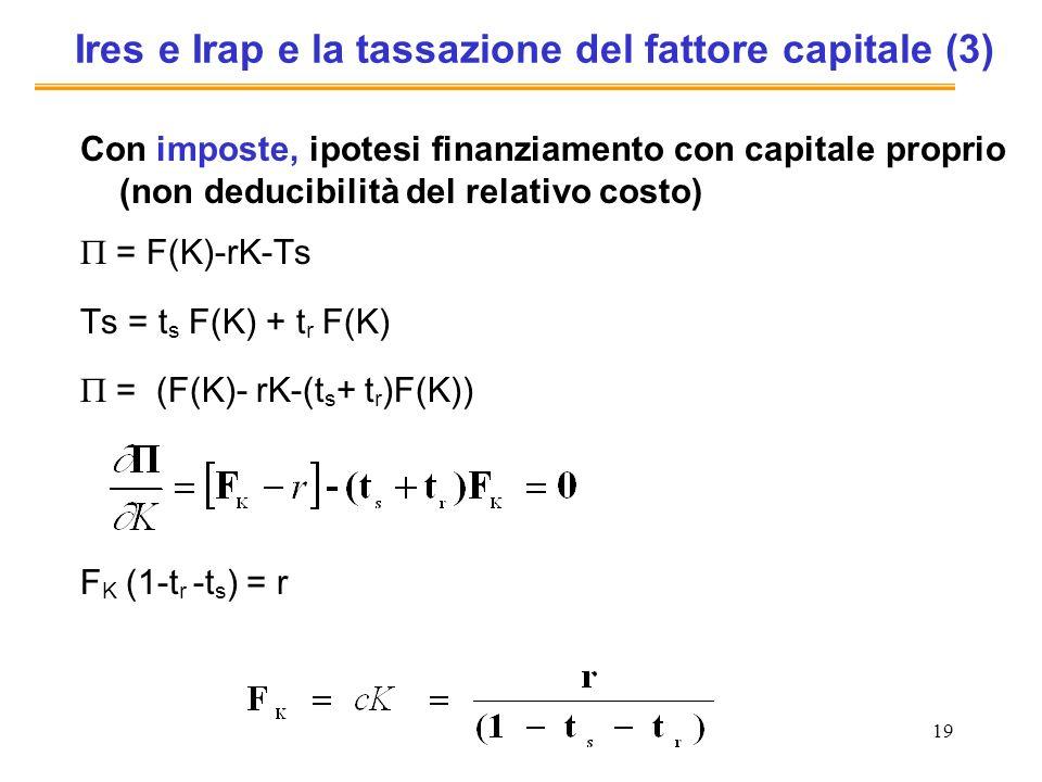 Ires e Irap e la tassazione del fattore capitale (3)