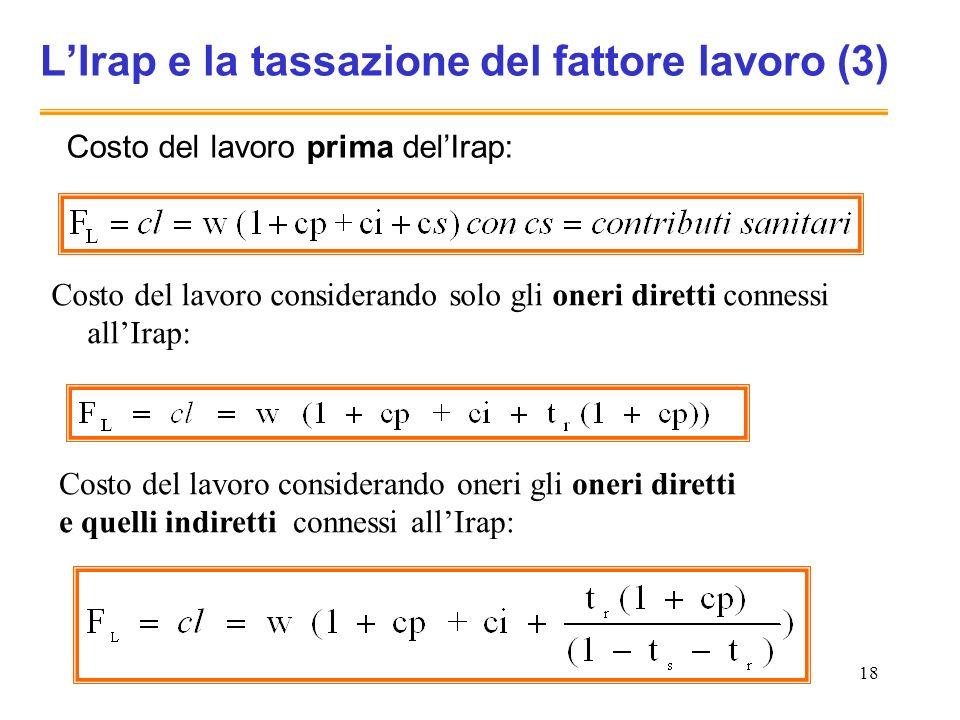 L'Irap e la tassazione del fattore lavoro (3)