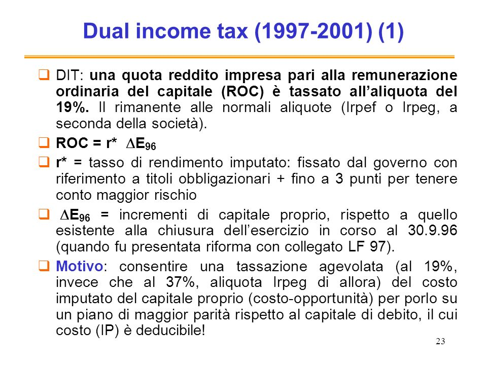 Dual income tax (1997-2001) (1)