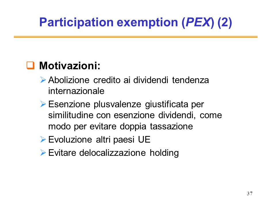 Participation exemption (PEX) (2)