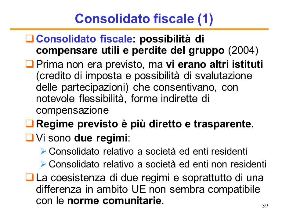 Consolidato fiscale (1)
