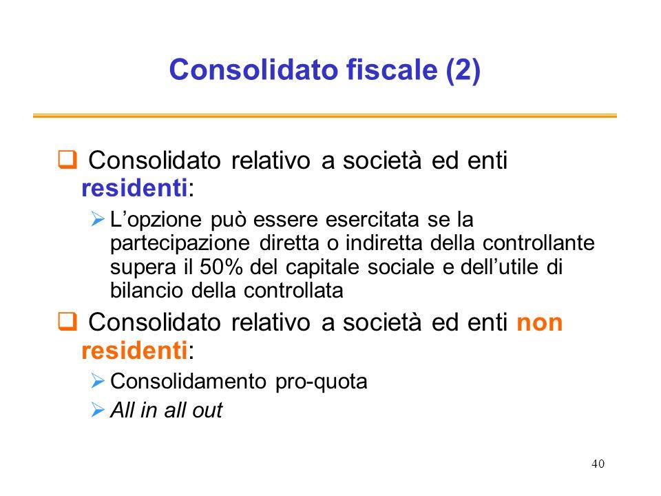 Consolidato fiscale (2)