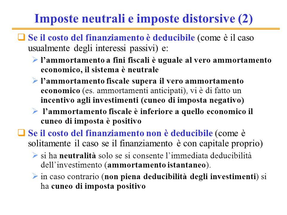 Imposte neutrali e imposte distorsive (2)
