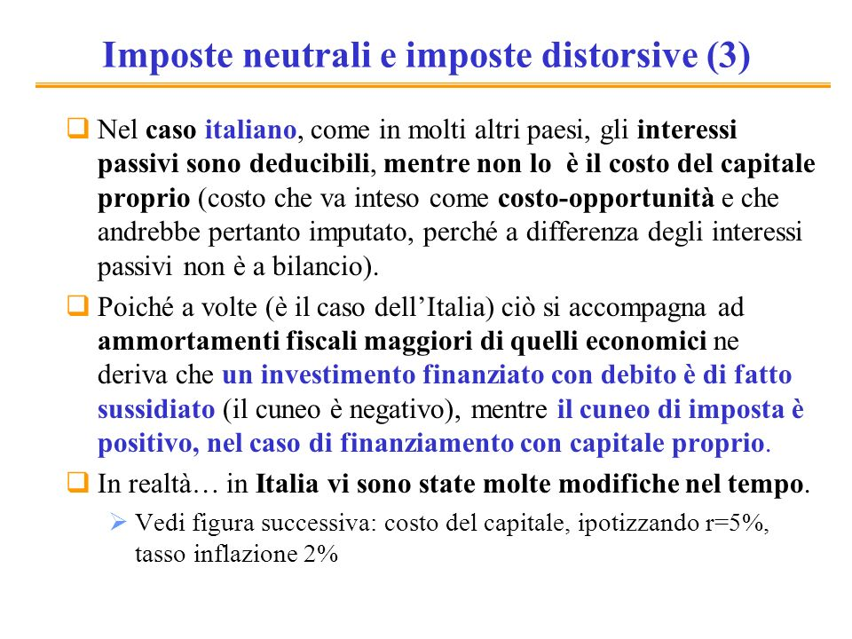 Imposte neutrali e imposte distorsive (3)