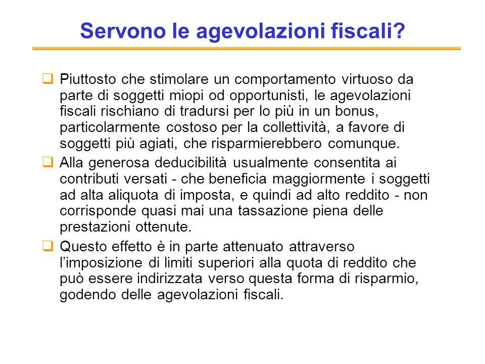 Servono le agevolazioni fiscali