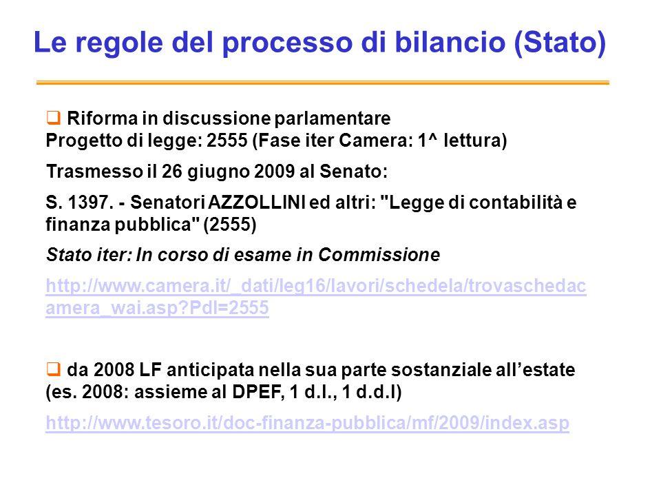 Le regole del processo di bilancio (Stato)