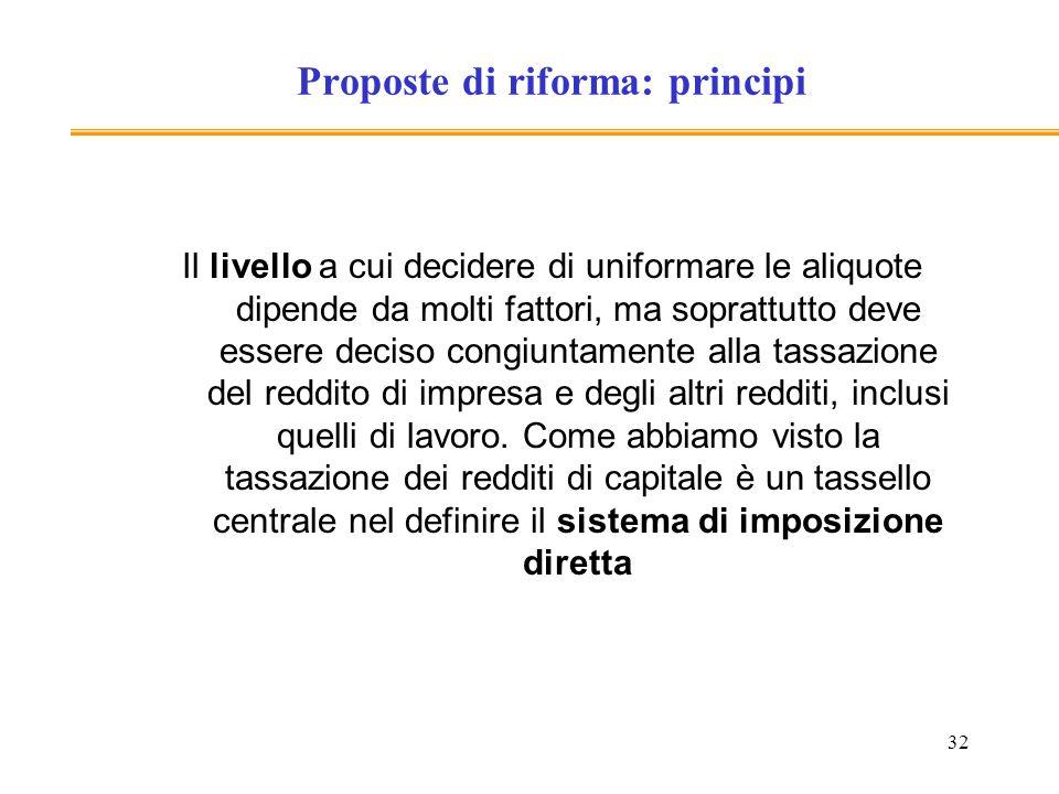 Proposte di riforma: principi
