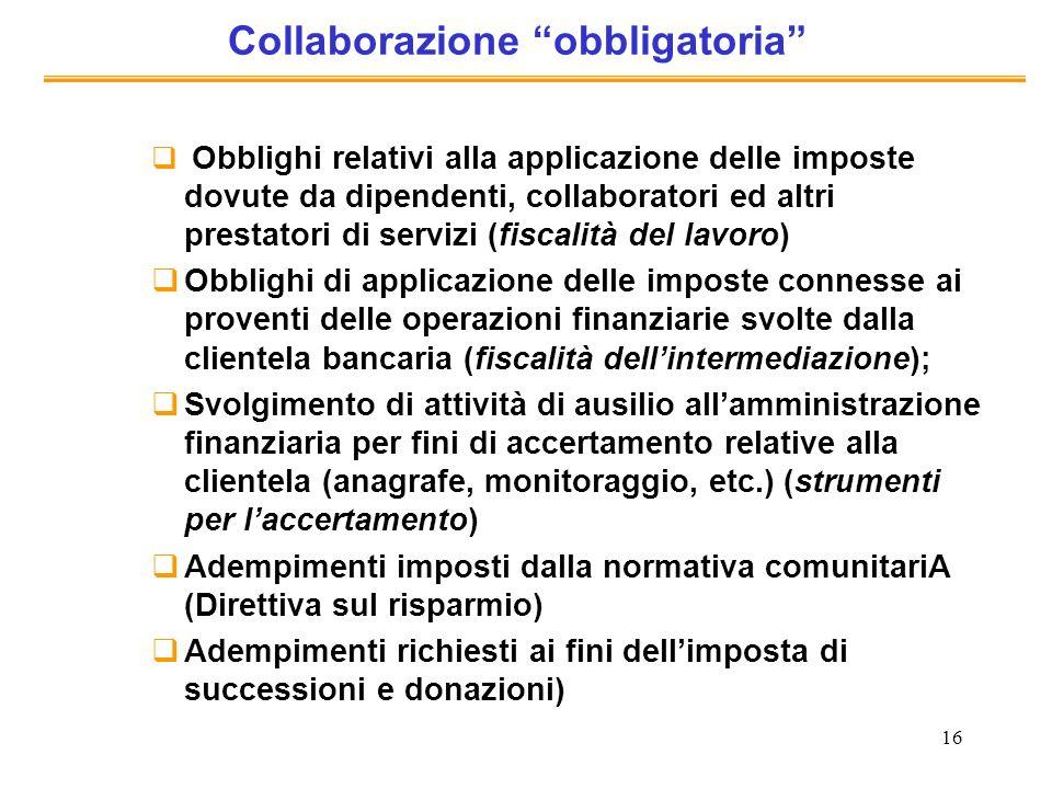 Collaborazione obbligatoria