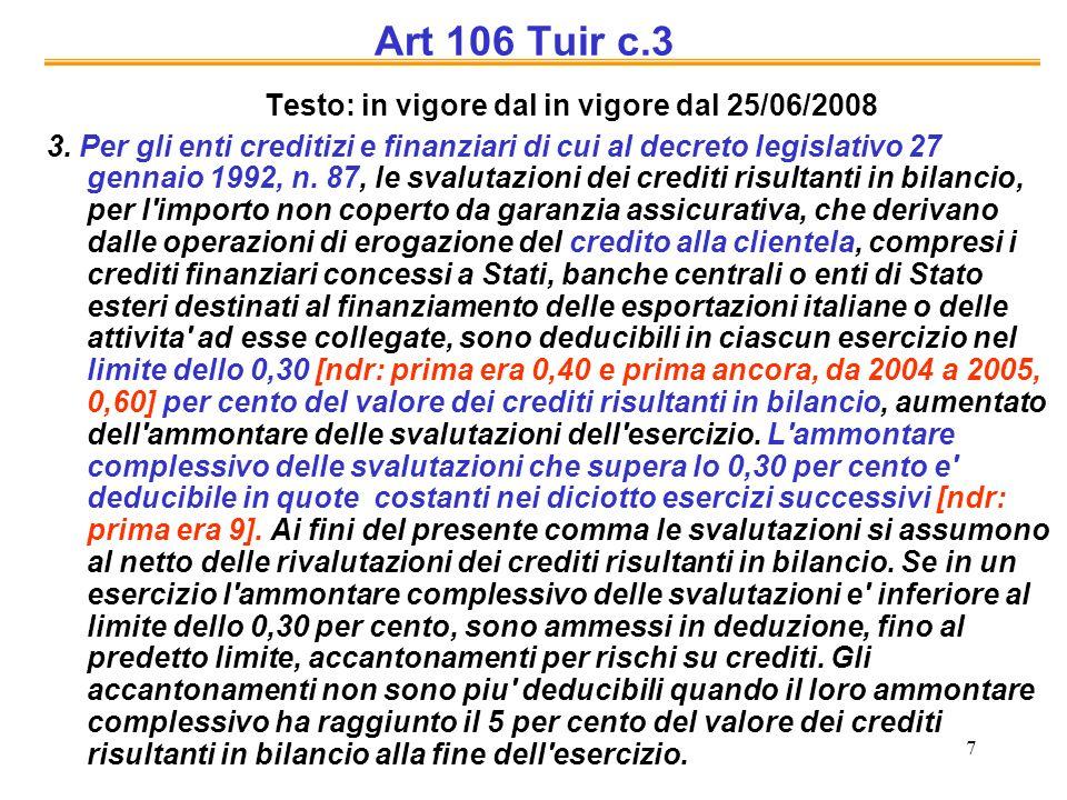 Testo: in vigore dal in vigore dal 25/06/2008
