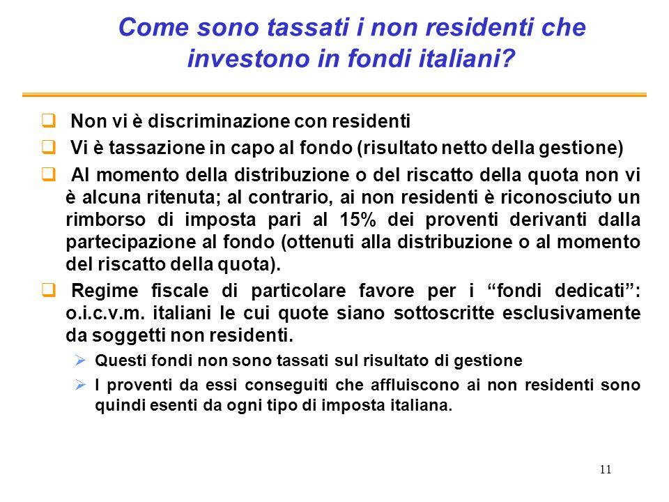 Come sono tassati i non residenti che investono in fondi italiani