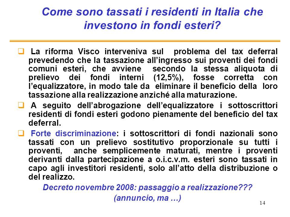 Come sono tassati i residenti in Italia che investono in fondi esteri