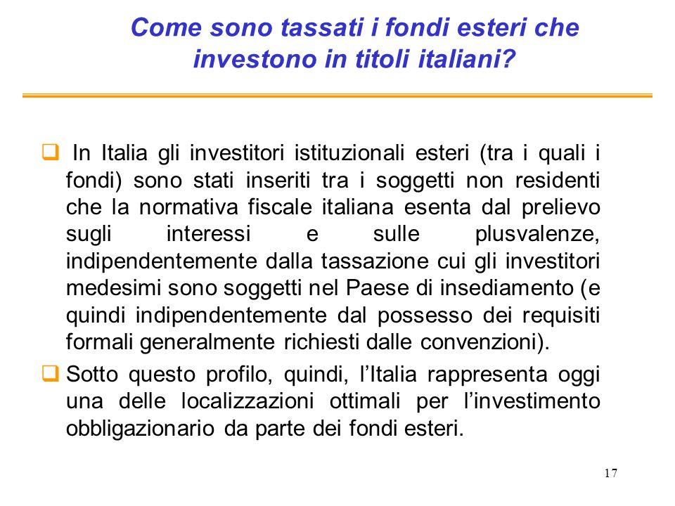 Come sono tassati i fondi esteri che investono in titoli italiani
