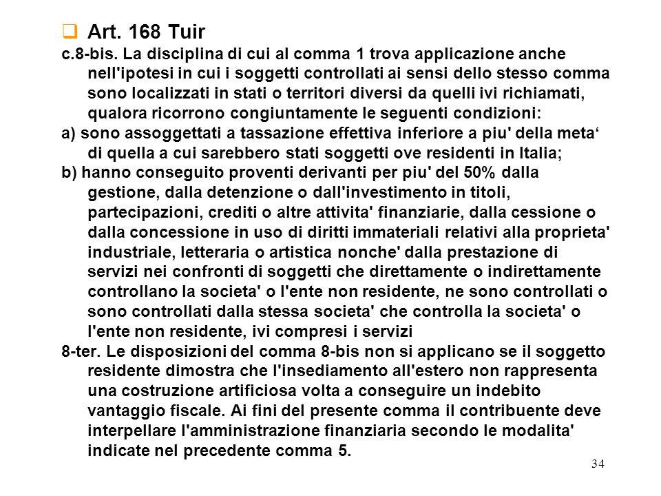 Art. 168 Tuir