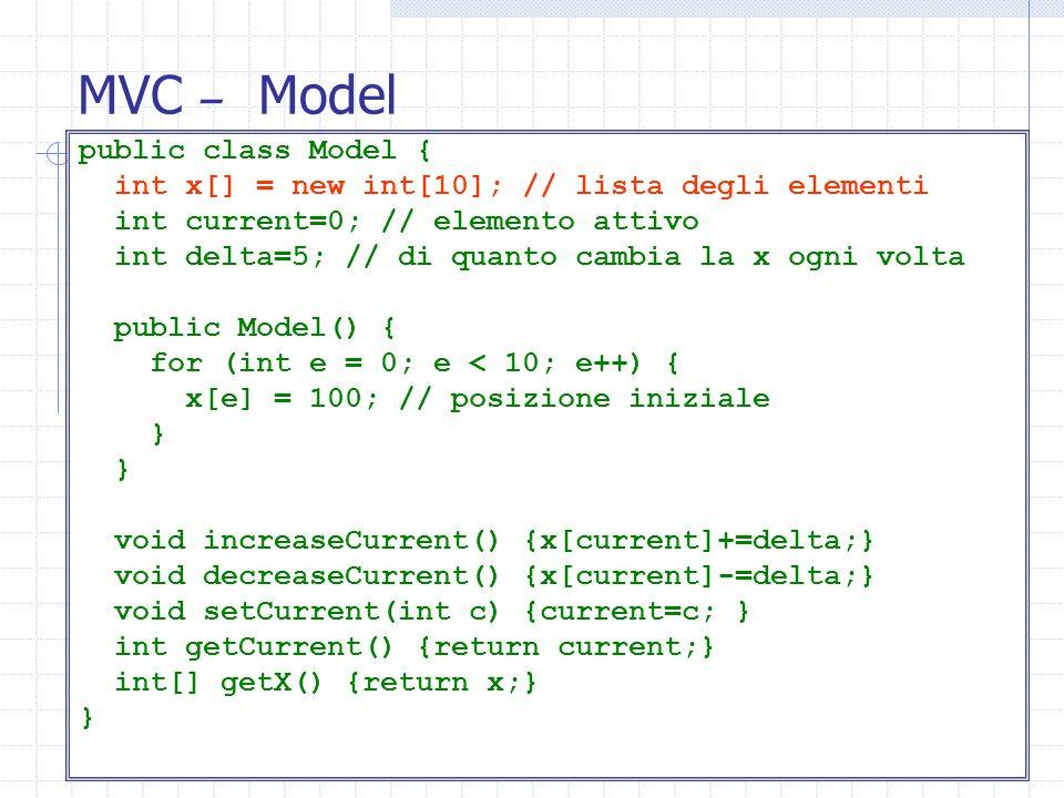 MVC – Model public class Model {