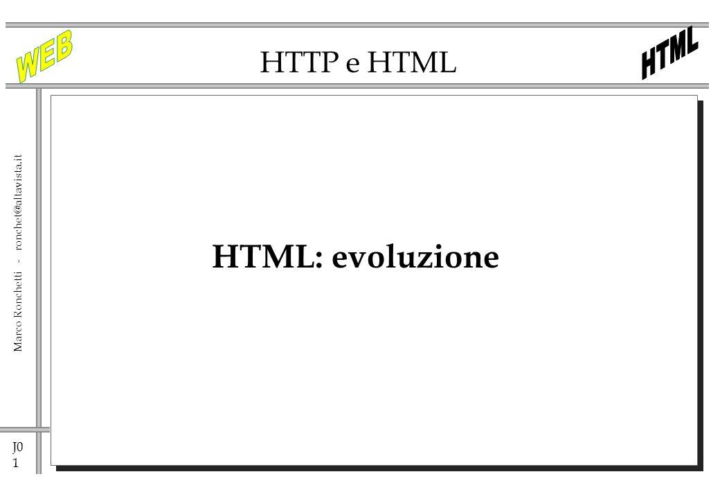 HTTP e HTML HTML: evoluzione