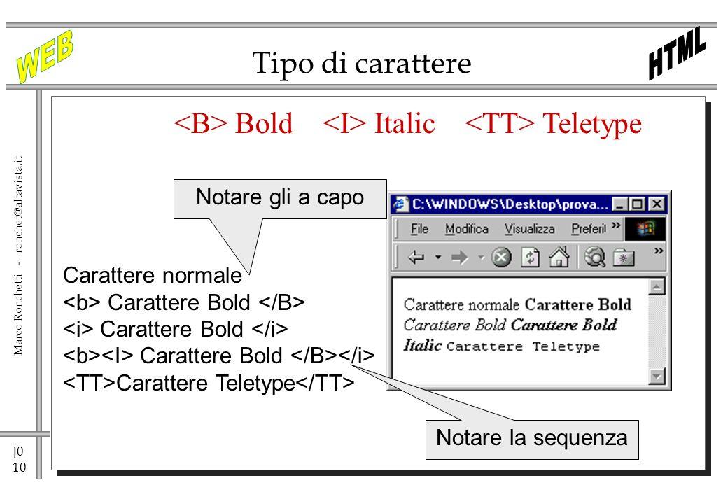 <B> Bold <I> Italic <TT> Teletype