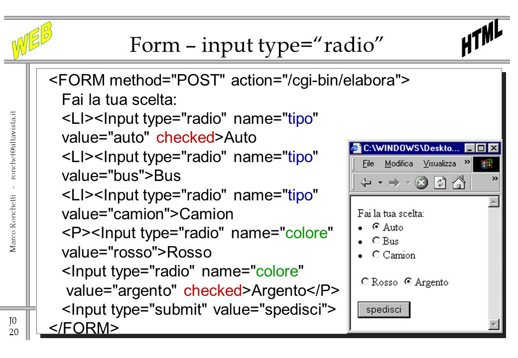 Form – input type= radio
