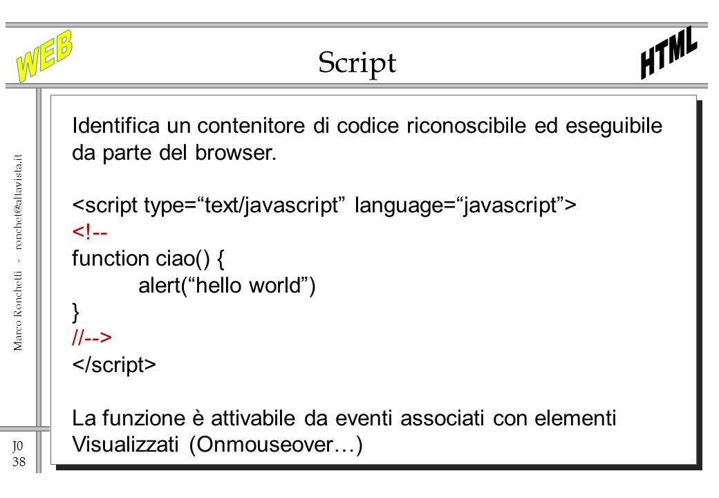 Script Identifica un contenitore di codice riconoscibile ed eseguibile