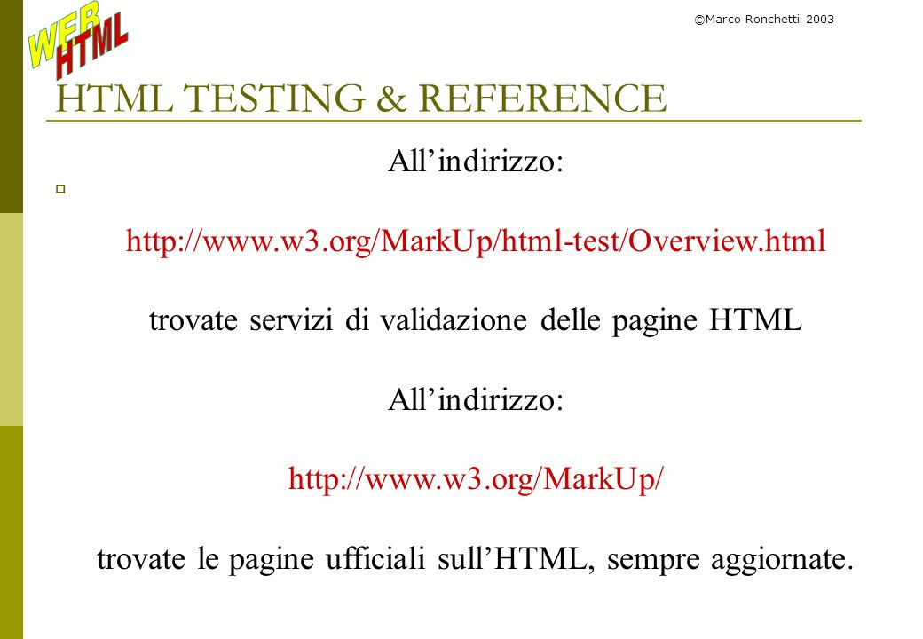 HTML TESTING & REFERENCE