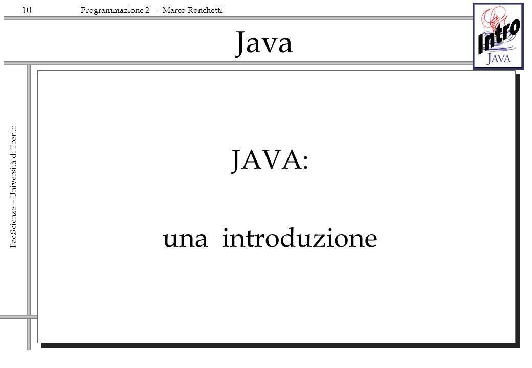 Java JAVA: una introduzione