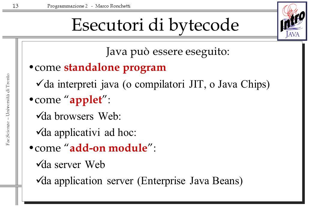 Java può essere eseguito: