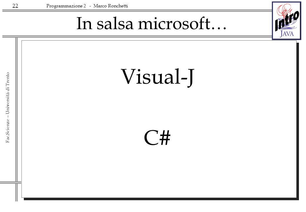 In salsa microsoft… Visual-J C#
