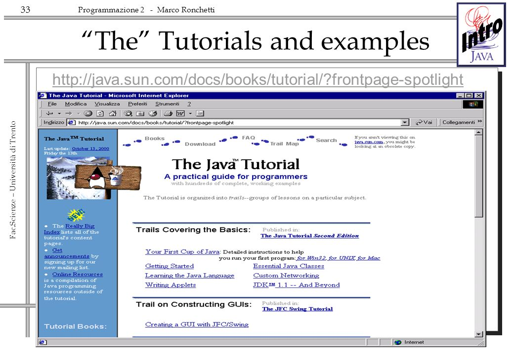 The Tutorials and examples