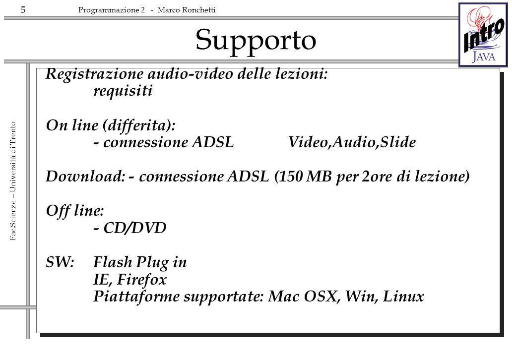 Supporto Registrazione audio-video delle lezioni: requisiti