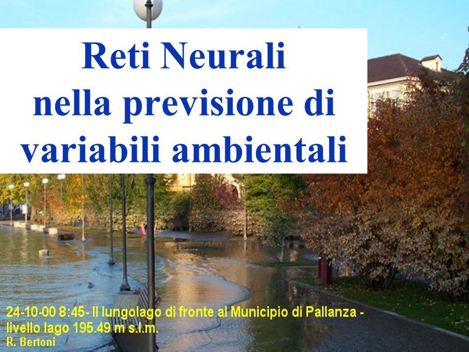 Reti Neurali nella previsione di variabili ambientali
